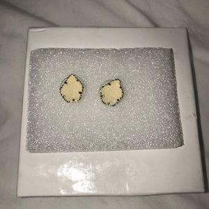 Kendra Scott Tessa Studs, White Druzy/Gold